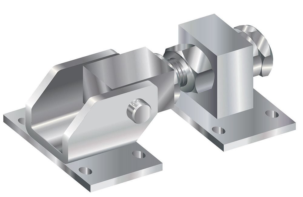 Hinge type 20MA with perforated plate